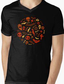 Halloween Orange Pattern Mens V-Neck T-Shirt