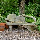Carved Bench by AnnDixon