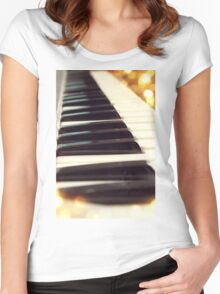 Piano keys Women's Fitted Scoop T-Shirt