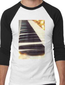 Piano keys Men's Baseball ¾ T-Shirt