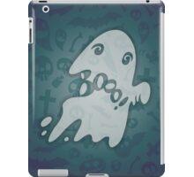 Halloween Card with Spooky Boo! iPad Case/Skin