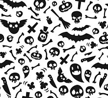 Halloween Black Symbols Pattern by Voysla