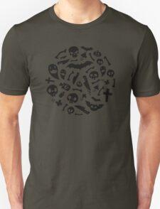 Halloween Black Symbols Pattern T-Shirt