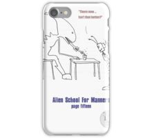 Teaching Aliens Manners Page Fifteen iPhone Case/Skin