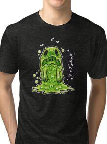 Cartoon Nausea Monster Tri-blend T-Shirt