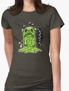 Cartoon Nausea Monster Womens Fitted T-Shirt