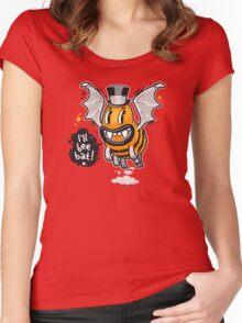 Cartoon Monster I'll Bee Bat Women's Fitted Scoop T-Shirt