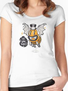 Cartoon Monster I'll Bee Bat Women's Fitted Scoop T-Shirt