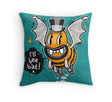 Cartoon Monster I'll Bee Bat Throw Pillow