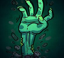 Cartoon Zombie Hand by Voysla