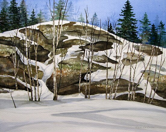 Rock Face at Heron Bay turn off - Heron Bay Ontario Canada by loralea
