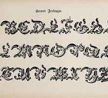 The Signist's Book of Modern Alphabets Freeman F Delamotte 1906 0073 German Arabesque by wetdryvac