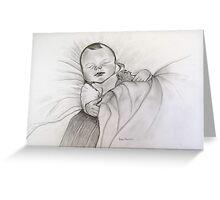 Baby Noah  sleeping   Greeting Card
