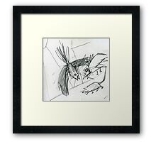 Raw sketch Framed Print
