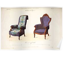 Le Garde Meuble Desire Guilmard 1839 0139 High Style Seat Furniture Interior Design Poster