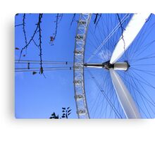 Legs, Twigs and Spokes - London Eye Canvas Print