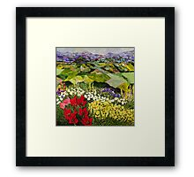 High Mountain Patch Framed Print