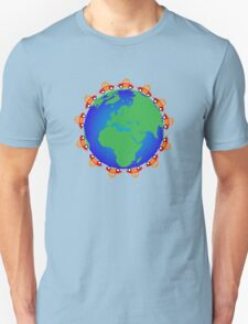 cars around globe Unisex T-Shirt