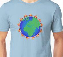 cars around globe Unisex T-Shirt