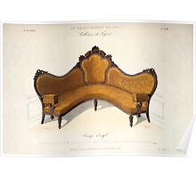 Le Garde Meuble Desire Guilmard 1839 0135 High Style Seat Furniture Interior Design Poster