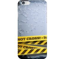 Grunge Vector Background With Danger Tapes iPhone Case/Skin
