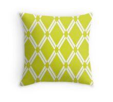 Chartreuse Argyle Diamonds Throw Pillow
