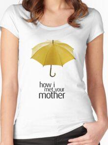 Yellow Umbrella. How I Met Your Mother. Women's Fitted Scoop T-Shirt