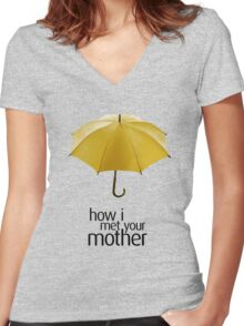 Yellow Umbrella. How I Met Your Mother. Women's Fitted V-Neck T-Shirt