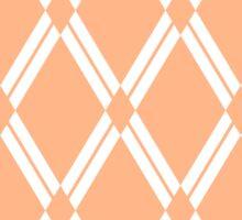Peach Argyle Diamonds Sticker