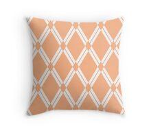 Peach Argyle Diamonds Throw Pillow