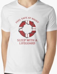 Sleep With A Lifeguard Mens V-Neck T-Shirt
