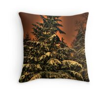Eye of the snowstorm Throw Pillow