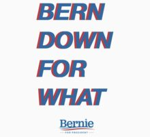 BERN DOWN FOR WHAT?  ($ goes to Bernie's campaign fund) Kids Tee