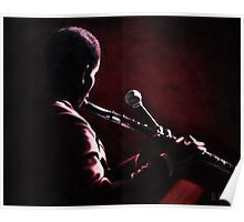 Man with Flute Poster