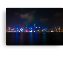 Hong Kong City Lights Canvas Print