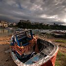 Old Boat at San Vicente de la Barquera by Christopher Cullen