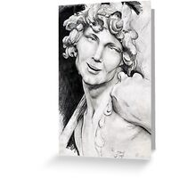 Running Faun (pencil study) Greeting Card
