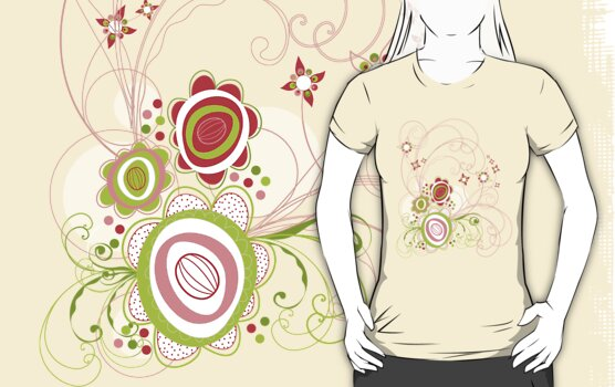Sweet Groovy Pink Wild Blooms by fatfatin