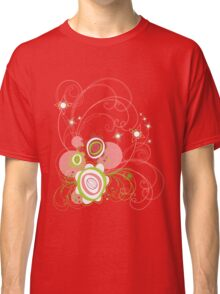 Sweet Groovy Pink Wild Blooms Classic T-Shirt