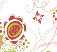 Sweet Groovy Pink Wild Blooms Sticker
