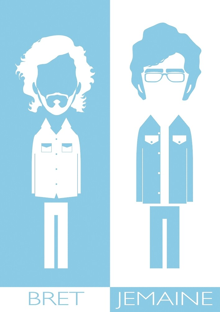Flight Of The Conchords by Mrdoodleillust