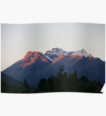 Glenorchy Mountains - New Zealand Poster