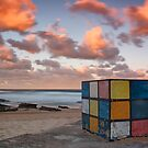 Rubiks on the beach by Andi Surjanto