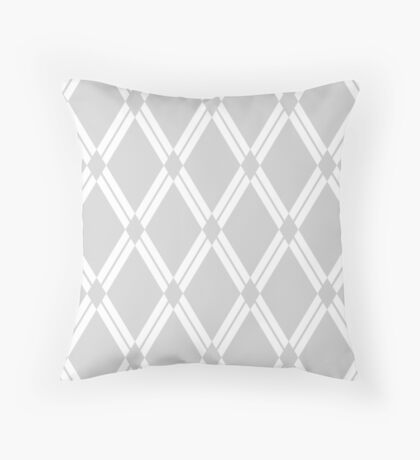 Light Grey Argyle Diamonds Throw Pillow