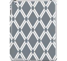 Cool Grey Argyle Diamonds iPad Case/Skin