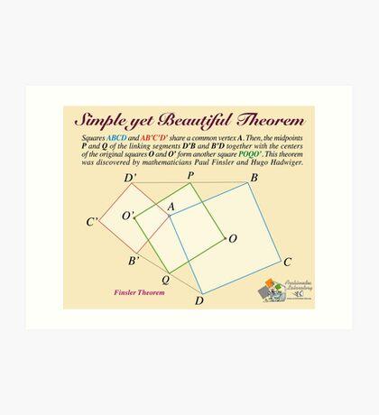 Finsler Theorem Art Print