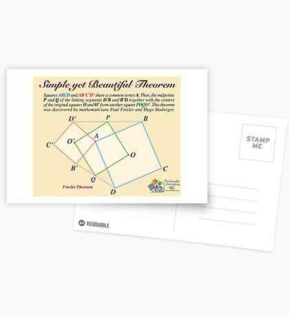 Finsler Theorem Postcards