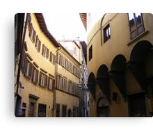 Buildings in a Florence Street Canvas Print