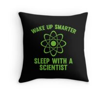 Wake Up Smarter Throw Pillow