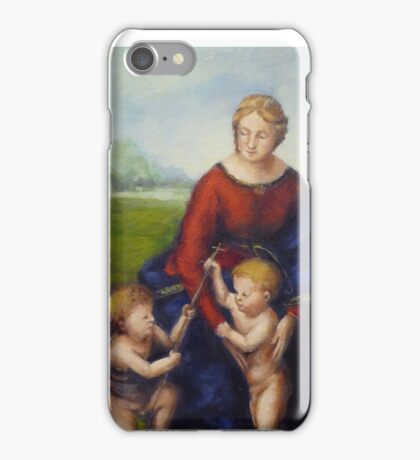 The Madonna of the meadows iPhone Case/Skin
